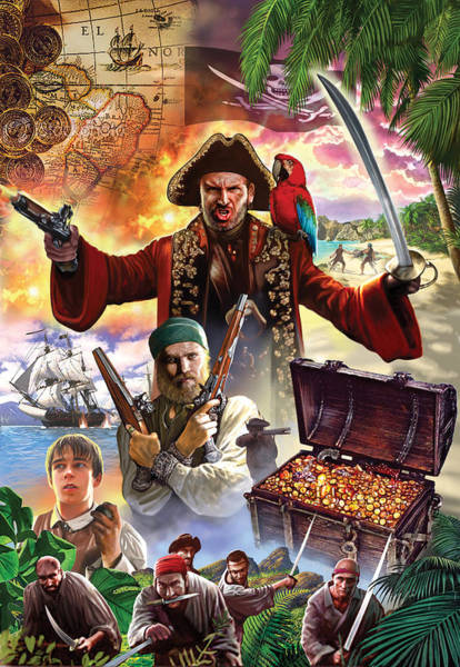 Robbers Photograph - Treasure Island by MGL Meiklejohn Graphics Licensing