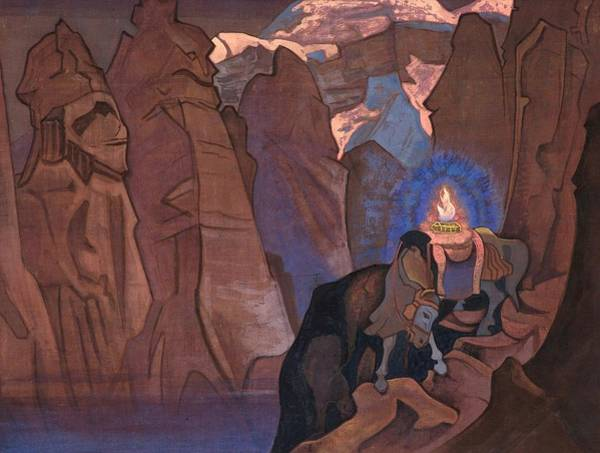 Nk Roerich Painting - Treasure Of The World by Nicholas Roerich