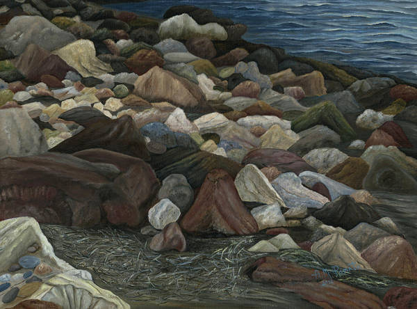Painting - Treasure Stones by Angeles M Pomata