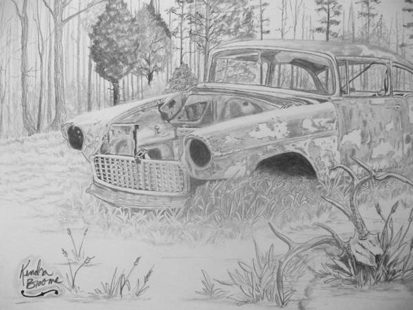 Whitetail Drawing - Treasures by Kendra DeBerry