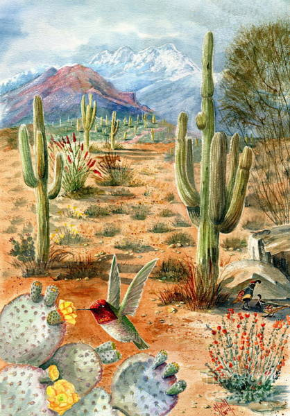 Prickly Pear Wall Art - Painting - Treasures Of The Desert by Marilyn Smith
