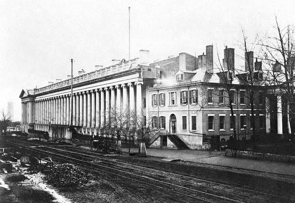 Greek Revival Architecture Photograph - Treasury Building, C1862 by Granger