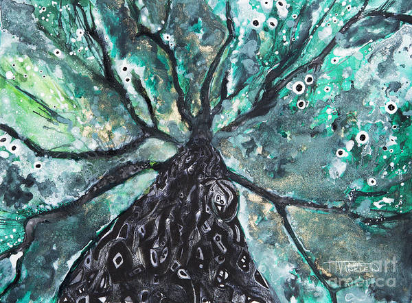 Tara Painting - Tree Branches Above by Tara Thelen