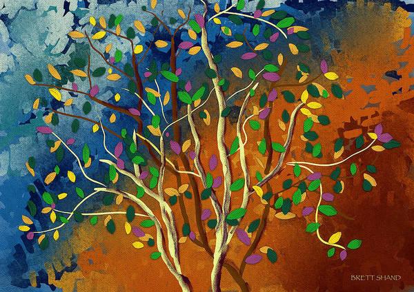 Digital Art - Tree by Brett Shand