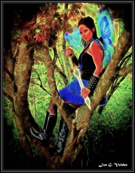Painting - Tree Fairy by Jon Volden