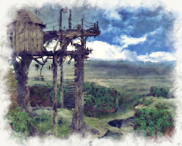 Painting - Tree House by Maynard Ellis