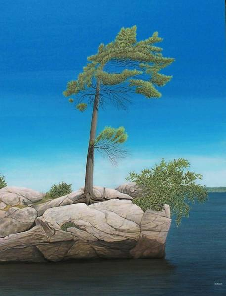 Painting - Tree In Rock by Kenneth M Kirsch