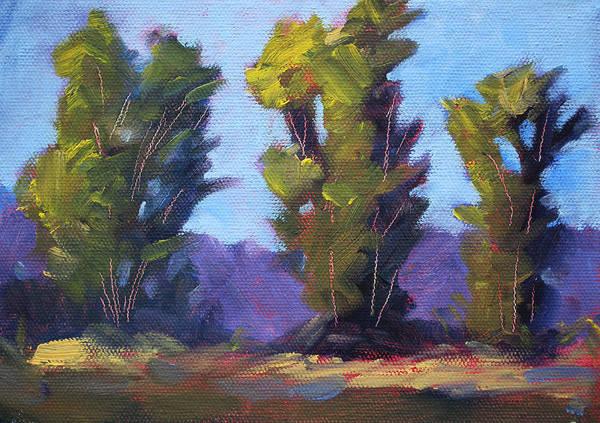 Spring Break Wall Art - Painting - Tree Line by Nancy Merkle