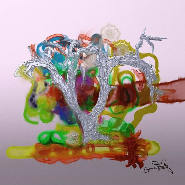 Painting - Tree Of Forbidden Fruit  by Eugene Foltuz