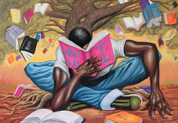 Reading Painting - Tree Of Knowledge by The Art of DionJa'Y