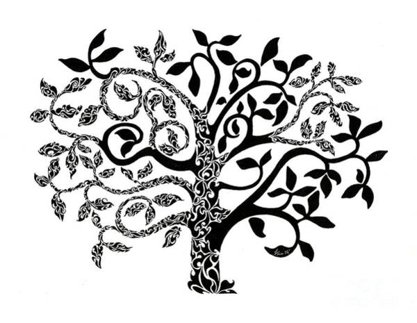Delicate Painting - Tree Of Life by Anushree Santhosh