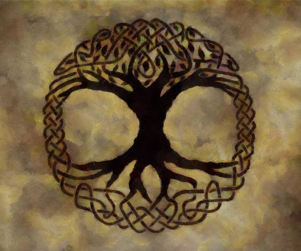 Celtic Mythology Wall Art - Painting - Tree Of Life by Dan Sproul