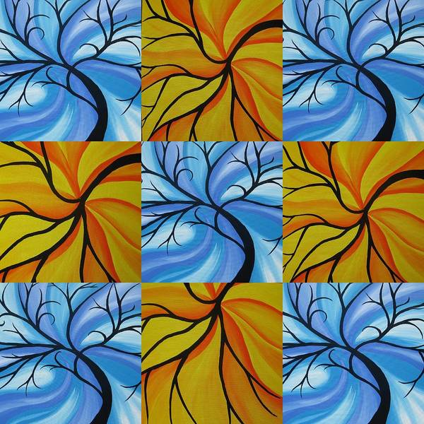 Cathy Painting - Tree Of Life Kaledoscope by Cathy Jacobs