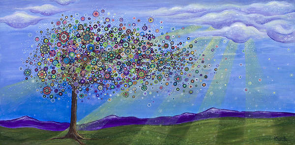 Sunray Wall Art - Painting - Tree Of Life by Tanielle Childers