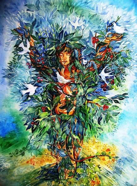 Celtic Mythology Wall Art - Painting - Tree Of Life  by Trudi Doyle