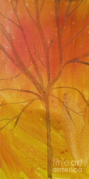 Painting - Tree Of Three Gold by Robin Maria Pedrero