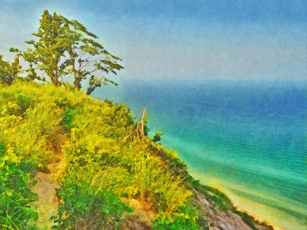 Digital Art - Tree On A Bluff by Digital Photographic Arts