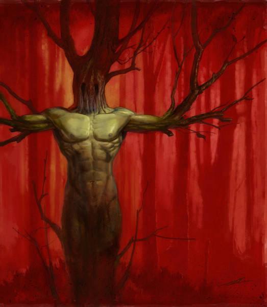 World Of Warcraft Wall Art - Painting - Tree Spirit by Alan Lathwell
