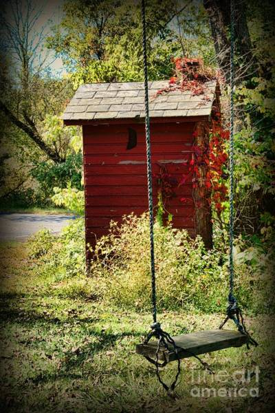 Water Closet Photograph - Tree Swing By The Outhouse by Paul Ward