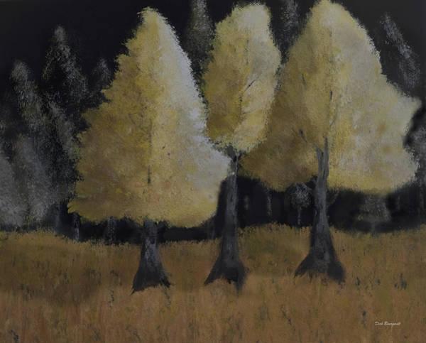 Tree Trio Art Print