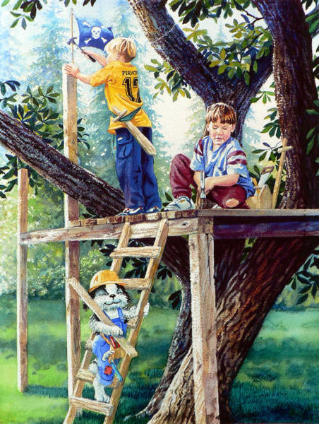 Wall Art - Painting - Treehouse Magic by Hanne Lore Koehler