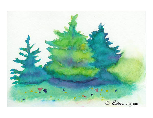Painting - Trees 2 by C Sitton