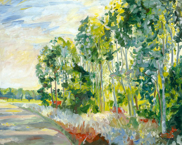 Painting - Trees By A Road by Lynn Hansen