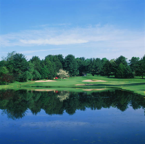 Wilmington Delaware Wall Art - Photograph - Trees In A Golf Course, Wilmington by Panoramic Images