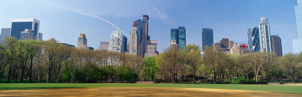 Wall Art - Photograph - Trees In A Park With Buildings by Panoramic Images