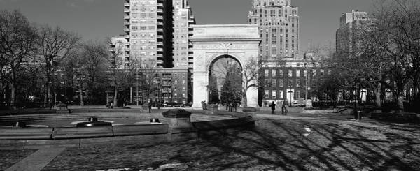Washington Square Park Wall Art - Photograph - Trees In Front Of A Building by Panoramic Images