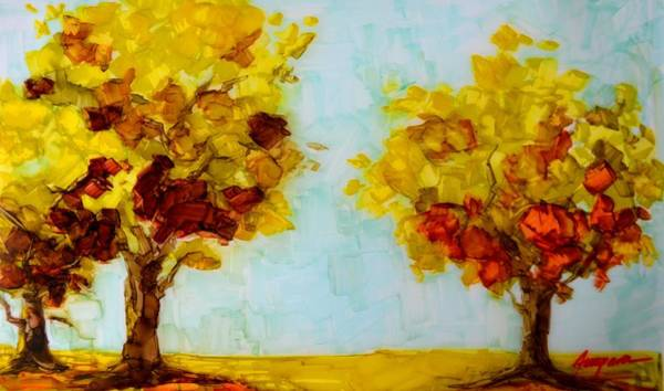 Painting - Trees In The Fall by Patricia Awapara