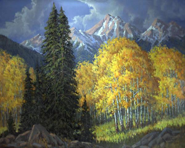 Follis Wall Art - Painting - Trees Of Fall by Randy Follis