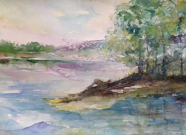 Trees On Water's Edge Art Print