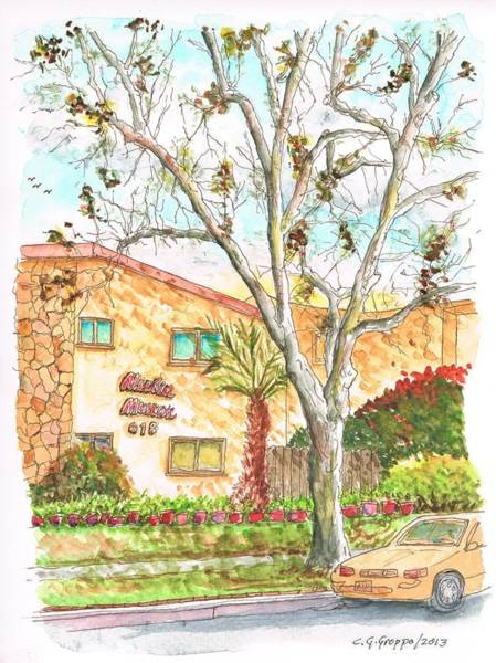 Acuarela Painting - Trees Without Leaves In Hollywood-california by Carlos G Groppa