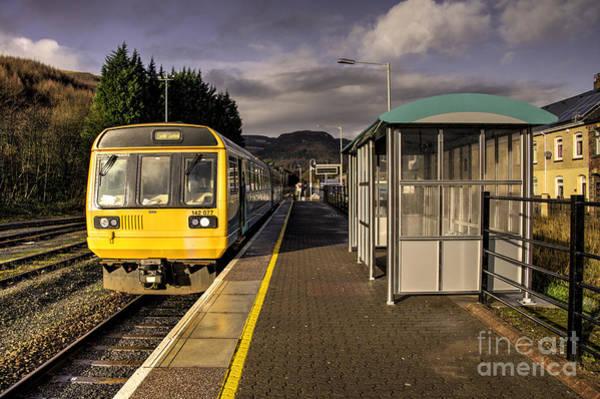 Arriva Photograph - Treherbert Station  by Rob Hawkins