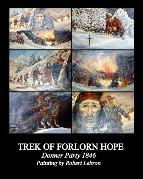 Photograph - Trek Of Forlorn Hope by AJ  Schibig