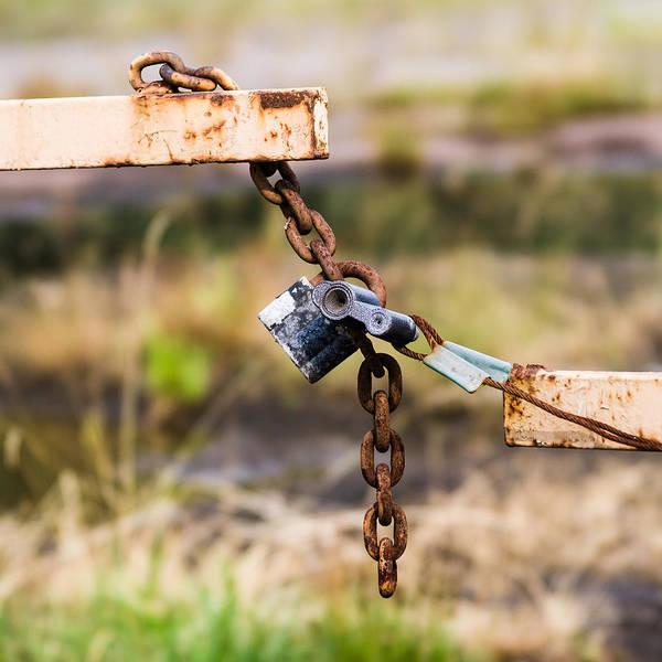 Rusty Chain Wall Art - Photograph - Trespassers W - Featured 3 by Alexander Senin