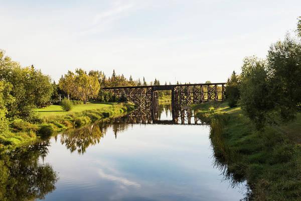 Sturgeon River Photograph - Tressel Bridge Over Sturgeon River  St by LJM Photo