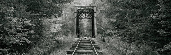 Wall Art - Photograph - Trestle Bridge Over Railroad Track by Panoramic Images