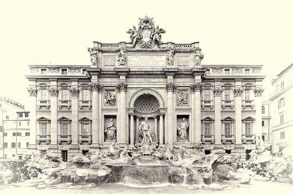 Wall Art - Photograph - Trevi Fountain In Rome Italy by Dan Sproul