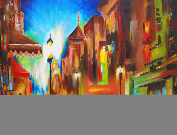 Susi Wall Art - Painting - Treviso At Twilight by Susi Franco