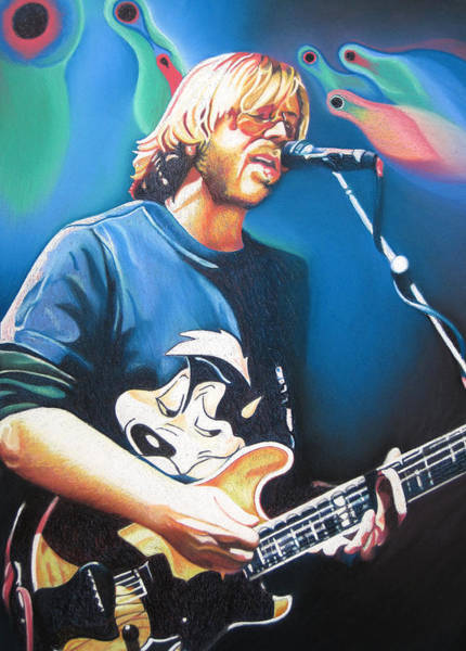 Wall Art - Drawing - Trey Anastasio And Lights by Joshua Morton