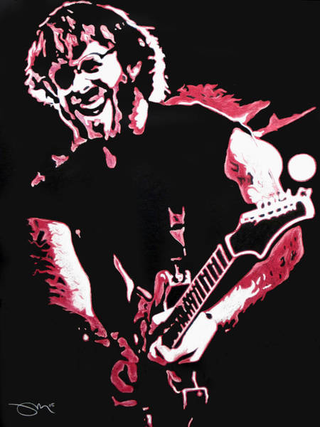 Wall Art - Drawing - Trey Anastasio In Pink by Joshua Morton