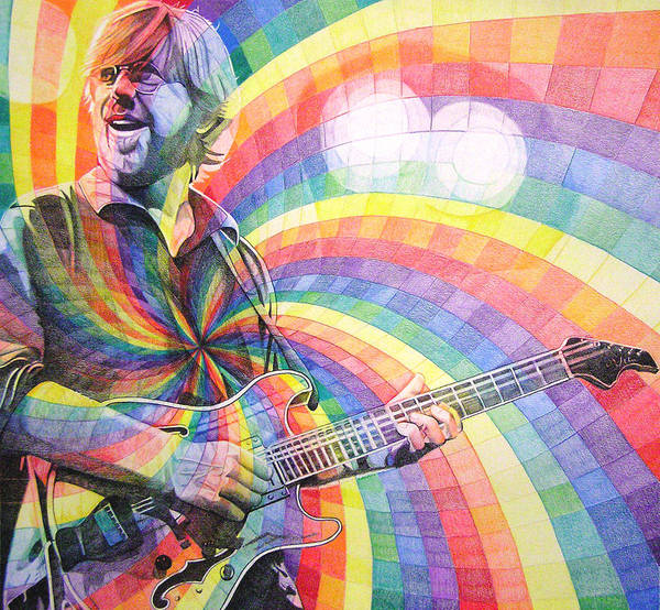 Wall Art - Drawing - Trey Anastasio Rainbow by Joshua Morton