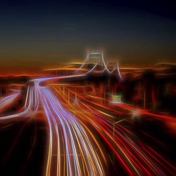 Photograph - Tri-borough Night by Theodore Jones