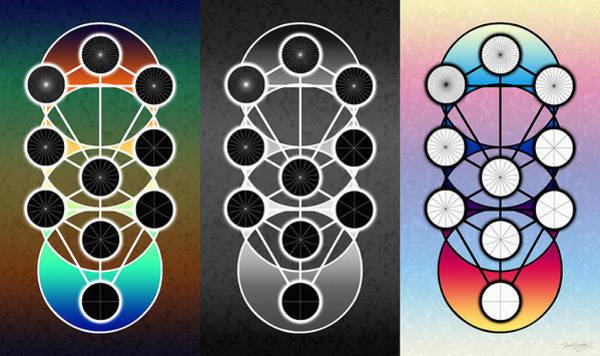 Digital Art - Tri-kabalah Chart by Derek Gedney