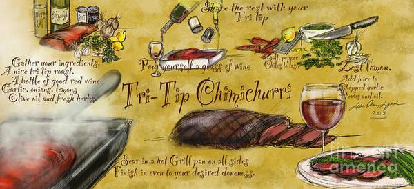 Painting - Tri Tip Chimichurri by Lisa Owen-Lynch