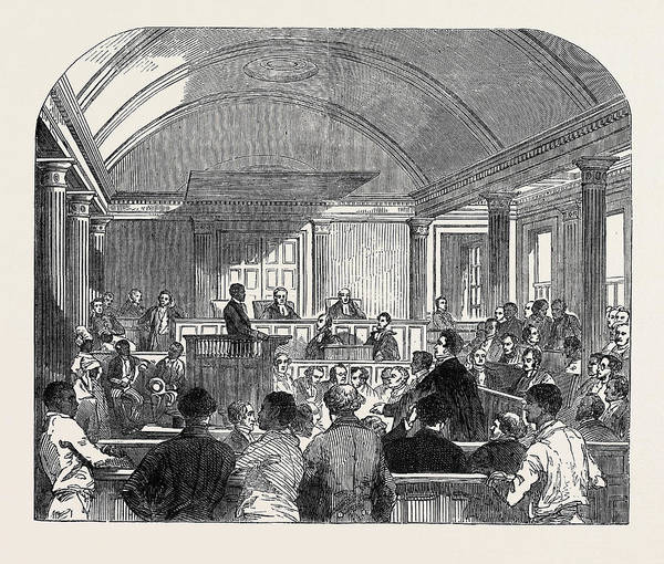 Trinidad Drawing - Trial Of The Rioters Oct by English School