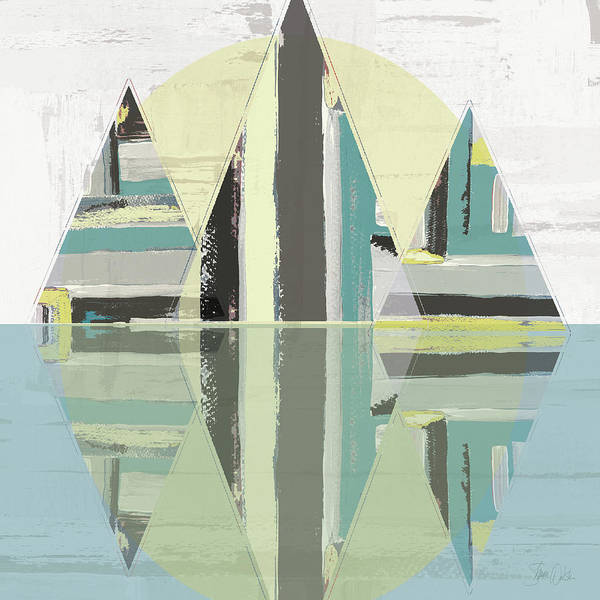 Triangles Painting - Triangle Landscape by Shanni Welsh