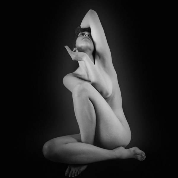 Figure Study Photograph - Triangle  by Mayumi Yoshimaru